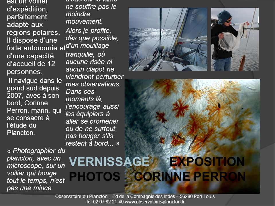 Tel 02 97 82 21 40 www.observatoire-plancton.fr