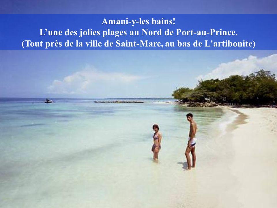Amani-y-les bains. L'une des jolies plages au Nord de Port-au-Prince