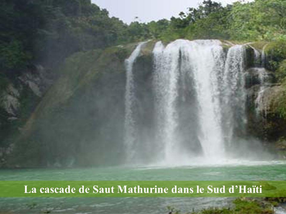 La cascade de Saut Mathurine dans le Sud d'Haïti