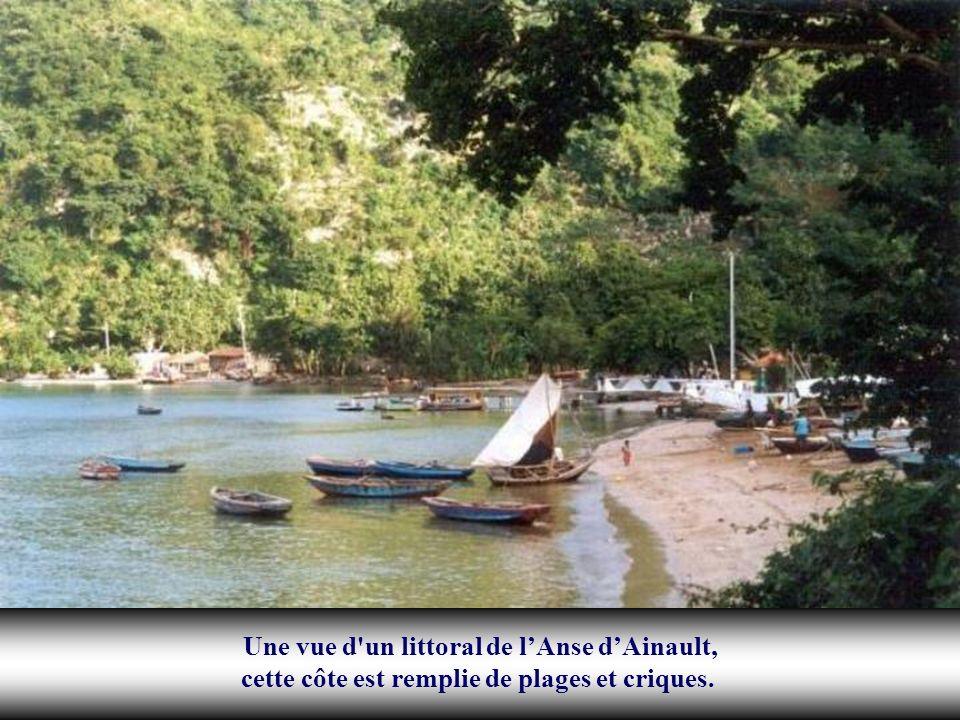 Une vue d un littoral de l'Anse d'Ainault, cette côte est remplie de plages et criques.