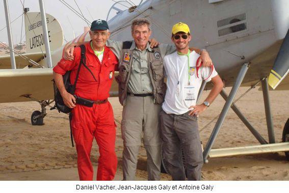 Daniel Vacher, Jean-Jacques Galy et Antoine Galy