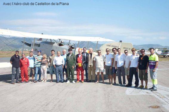 Avec l'Aéro-club de Castellon de la Plana