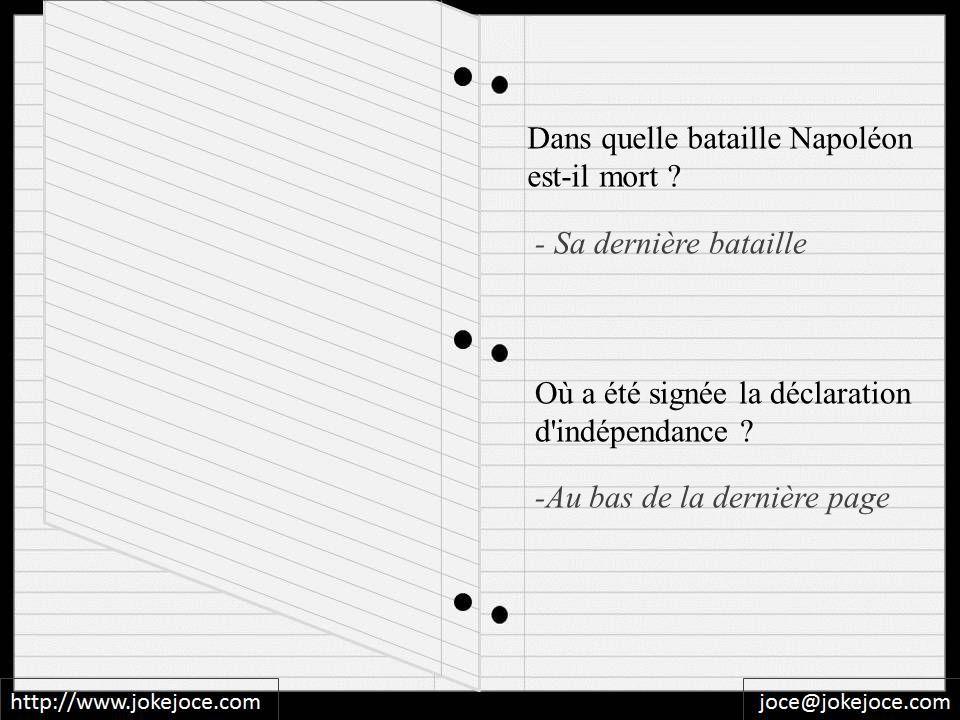 Dans quelle bataille Napoléon est-il mort