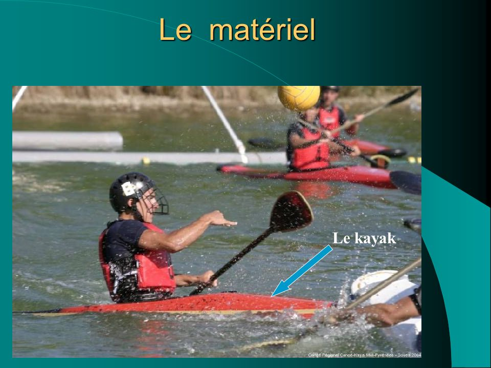 Le matériel Le kayak