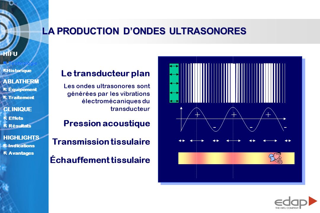 LA PRODUCTION D'ONDES ULTRASONORES