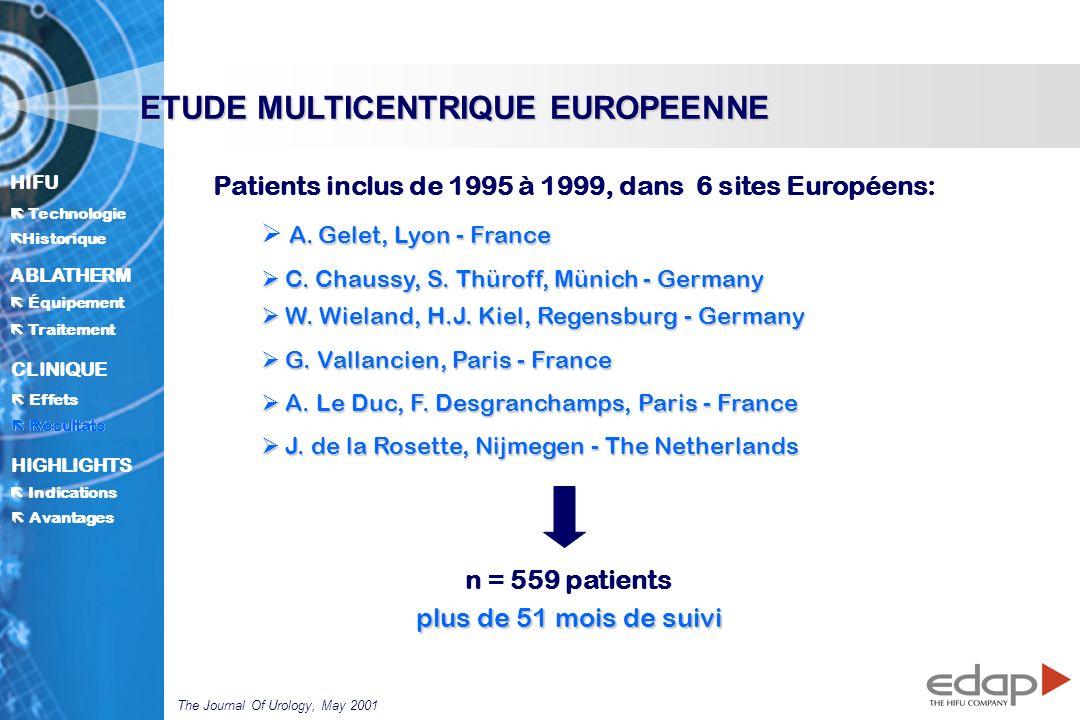 ETUDE MULTICENTRIQUE EUROPEENNE