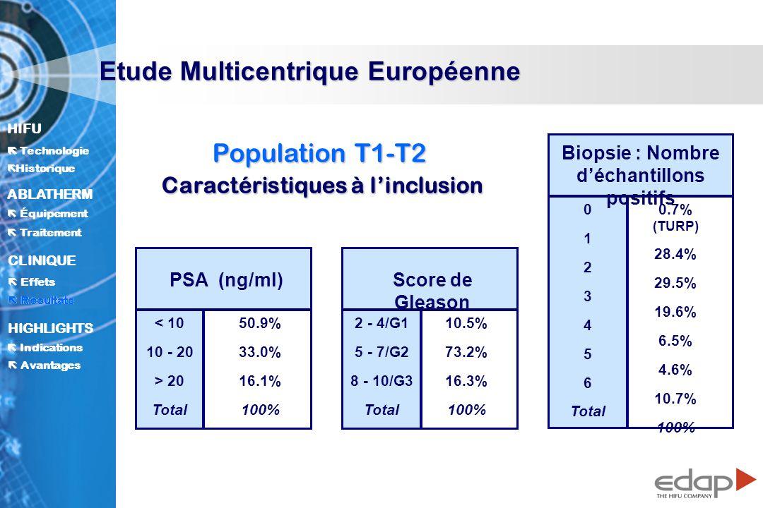 Biopsie : Nombre d'échantillons positifs