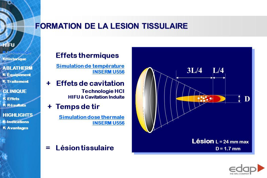 FORMATION DE LA LESION TISSULAIRE