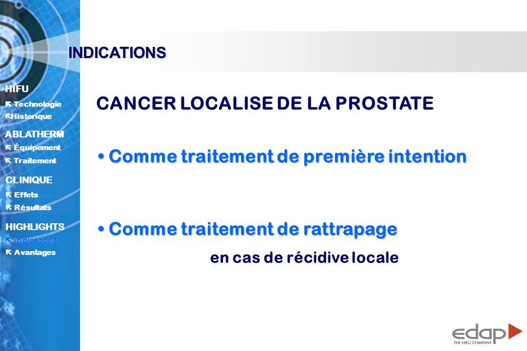 CANCER LOCALISE DE LA PROSTATE