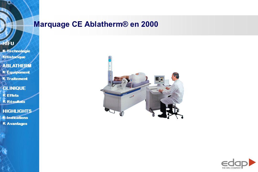 Marquage CE Ablatherm® en 2000