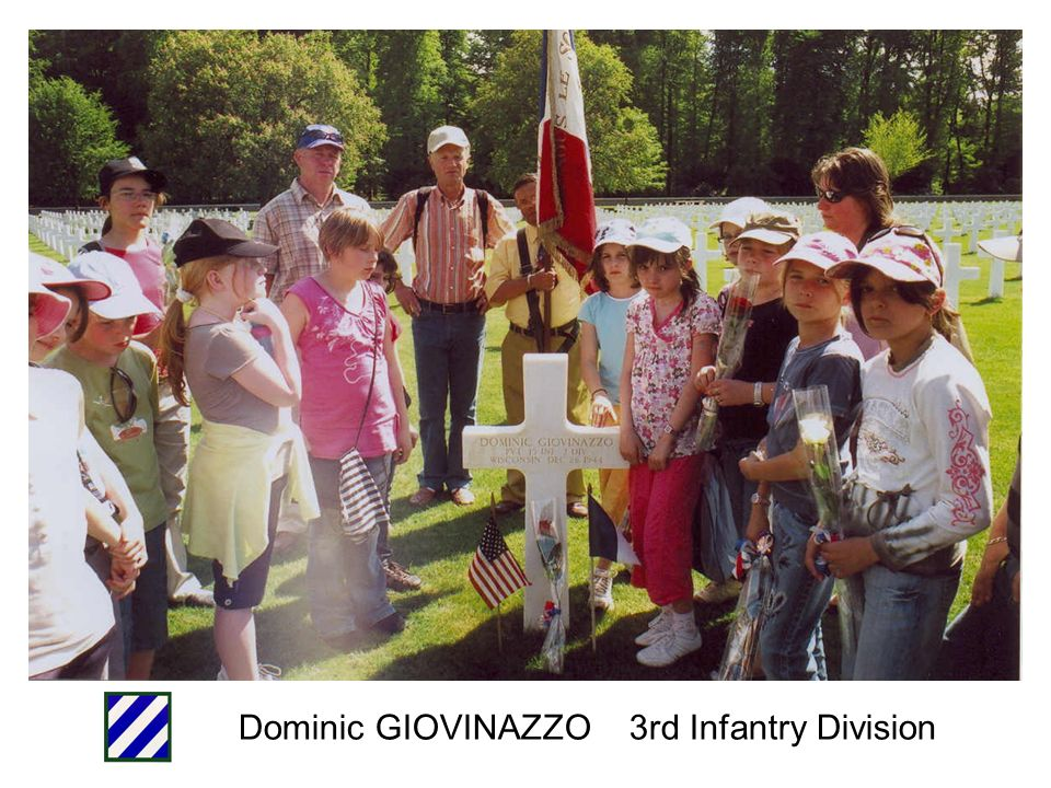 Dominic GIOVINAZZO 3rd Infantry Division