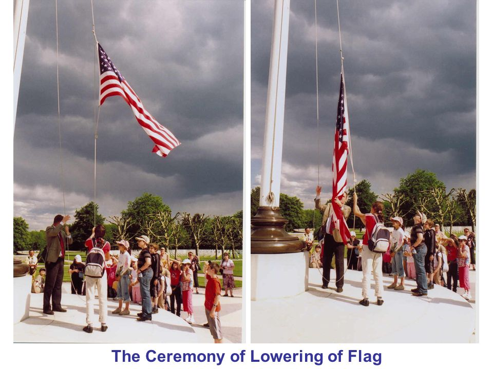The Ceremony of Lowering of Flag