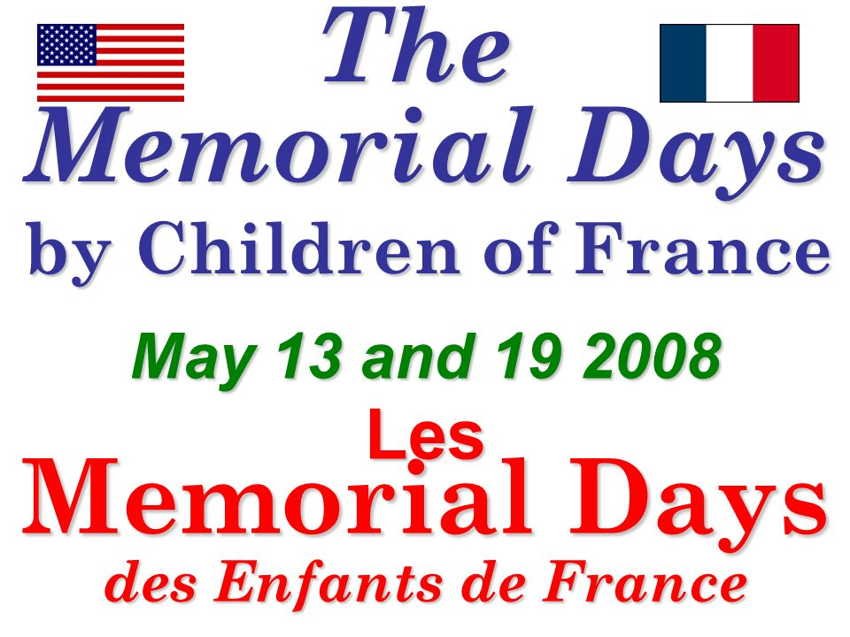 Memorial Days des Enfants de France