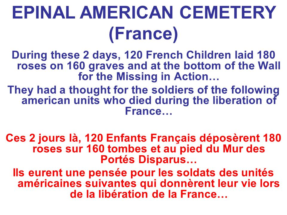 EPINAL AMERICAN CEMETERY (France)