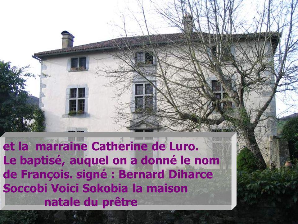 et la marraine Catherine de Luro.