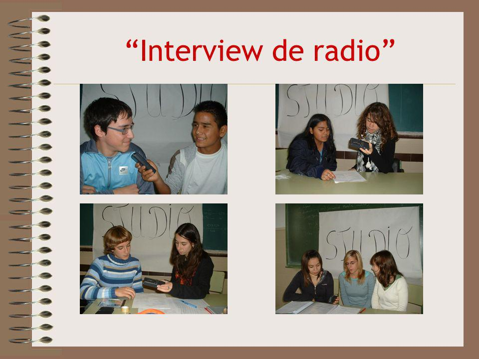 Interview de radio