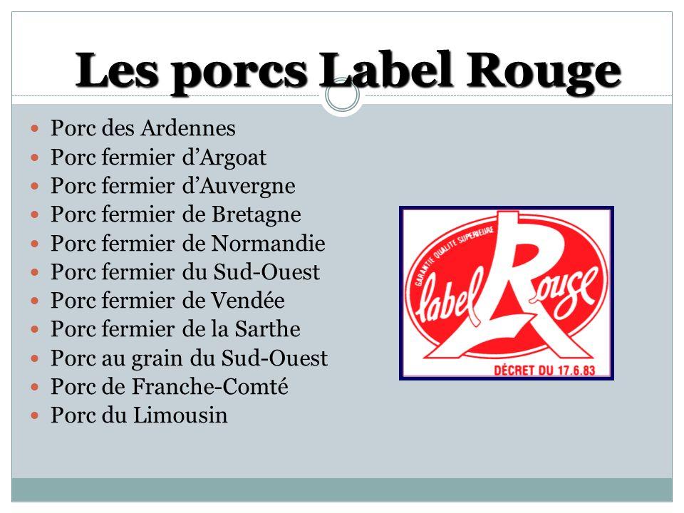 Les porcs Label Rouge Porc des Ardennes Porc fermier d'Argoat