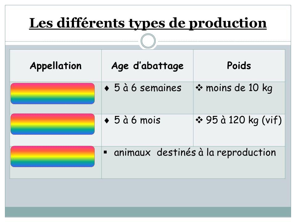 Les différents types de production