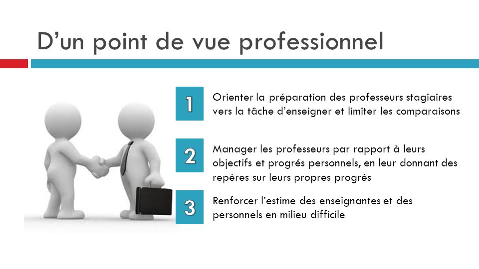 D'un point de vue professionnel