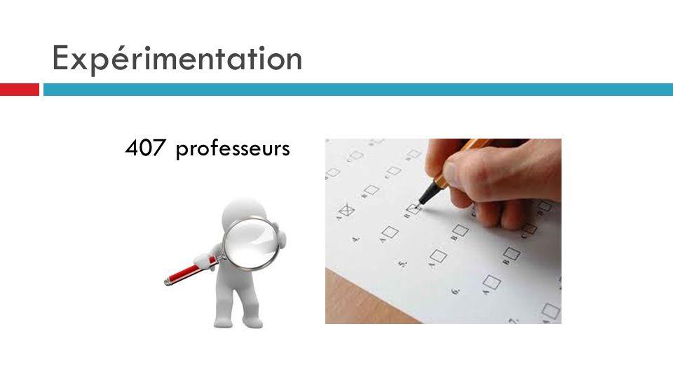 Expérimentation 407 professeurs