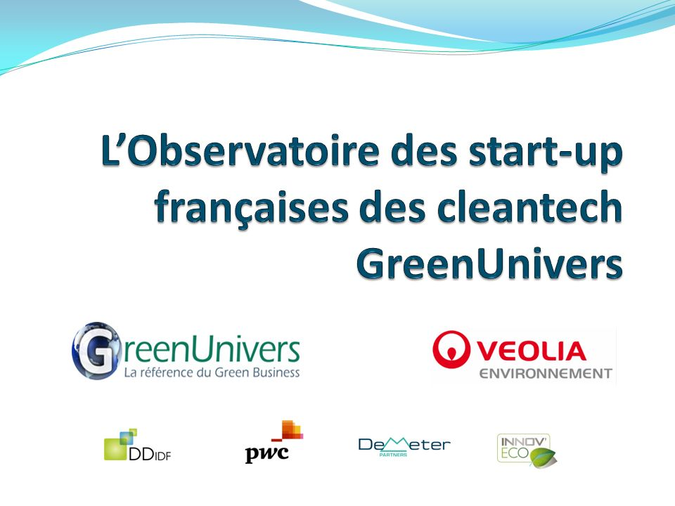 L'Observatoire des start-up françaises des cleantech GreenUnivers