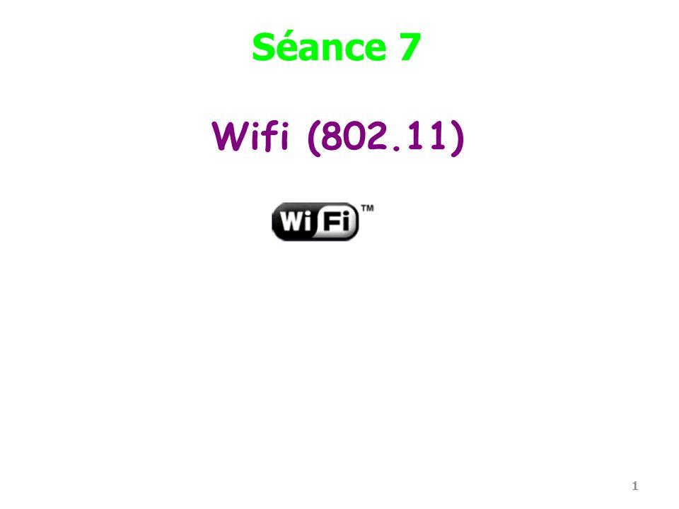 Séance 7 Wifi (802.11)