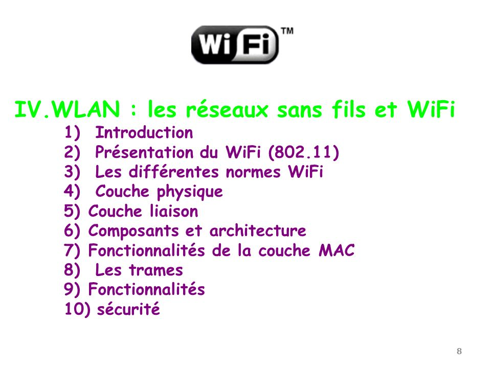 WLAN : les réseaux sans fils et WiFi