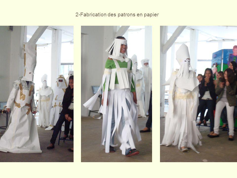 2-Fabrication des patrons en papier