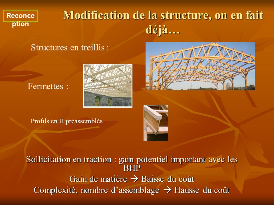 Modification de la structure, on en fait déjà…