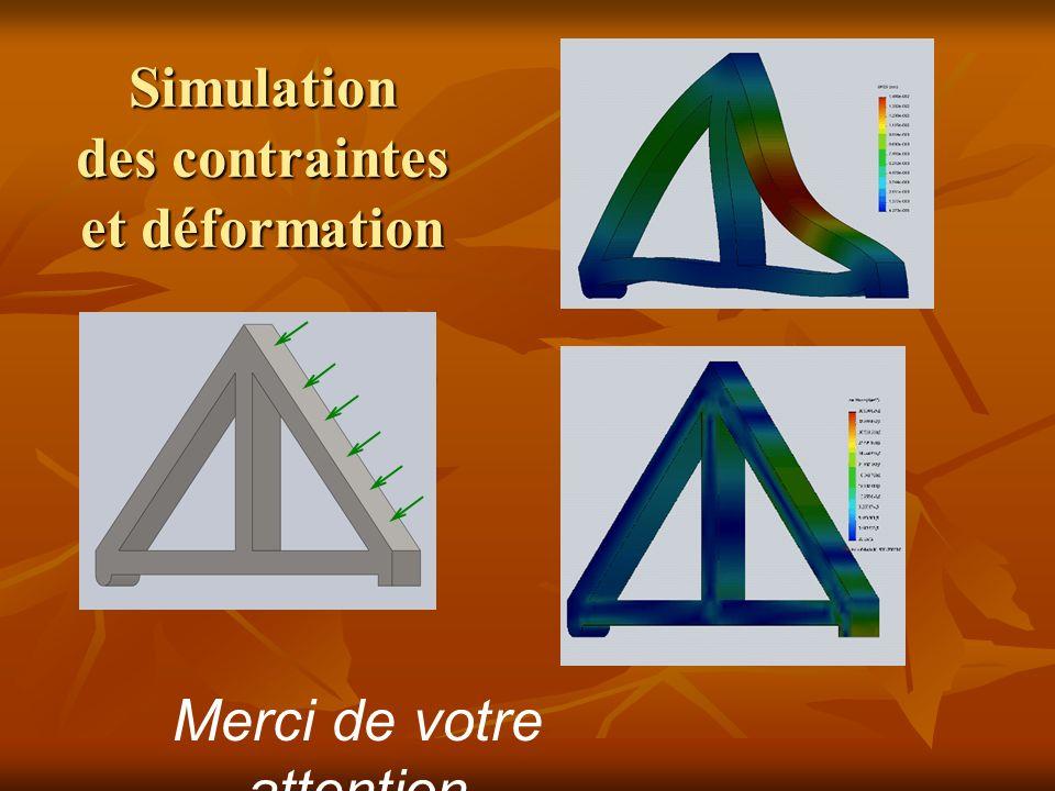 Simulation des contraintes et déformation