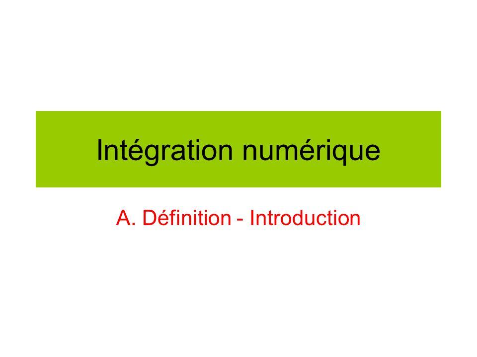 Intégration numérique