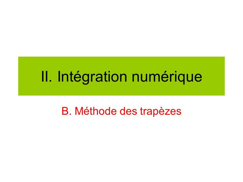 II. Intégration numérique