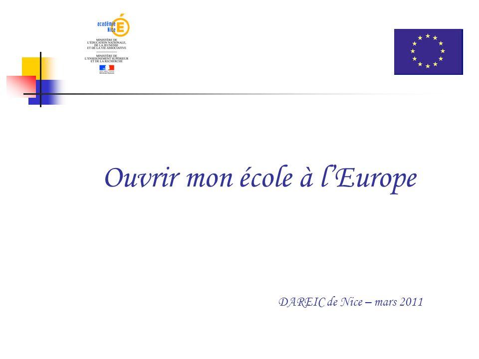 Ouvrir mon école à l'Europe