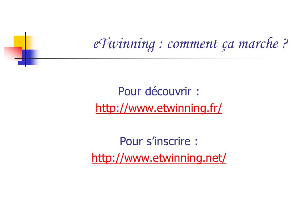 eTwinning : comment ça marche