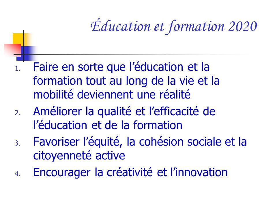 Éducation et formation 2020