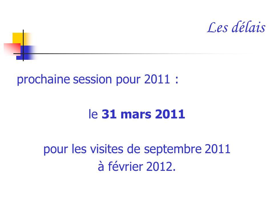 pour les visites de septembre 2011