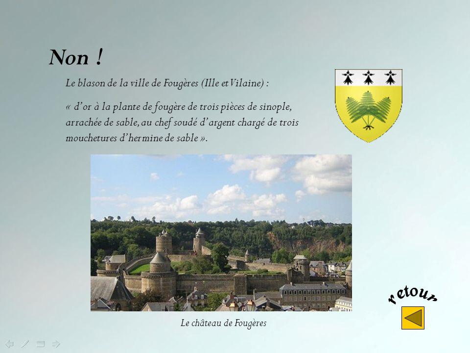 Non ! Le blason de la ville de Fougères (Ille et Vilaine) :