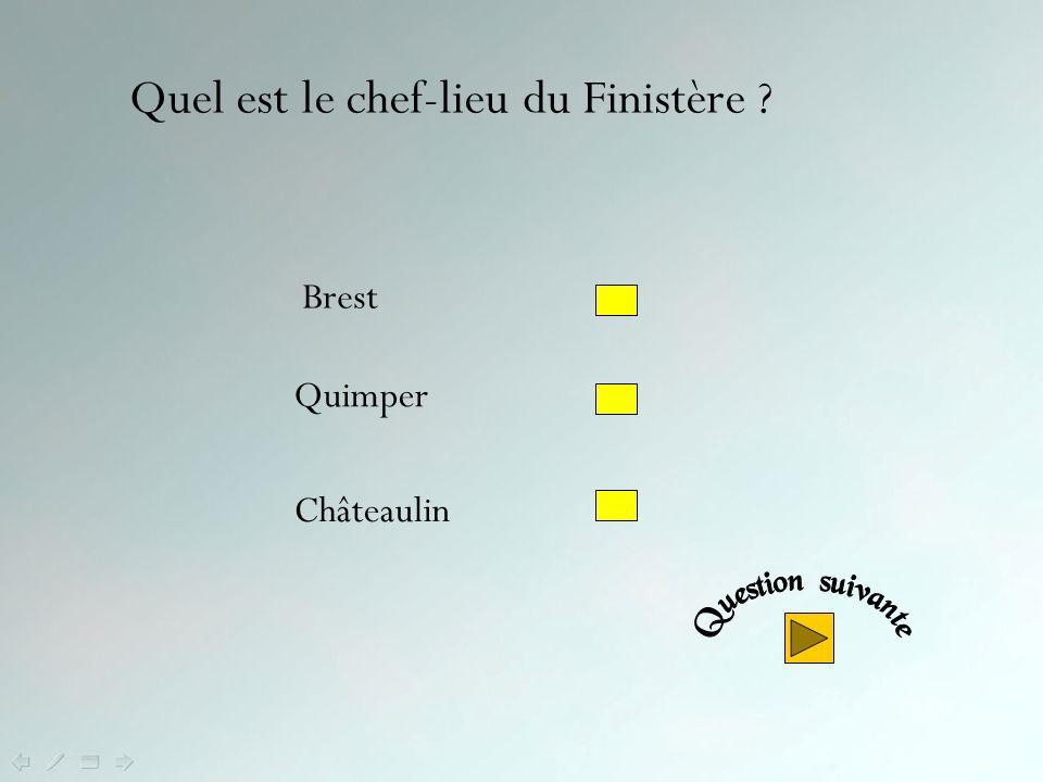 Quel est le chef-lieu du Finistère