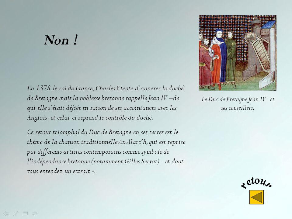 Le Duc de Bretagne Jean IV et ses conseillers.