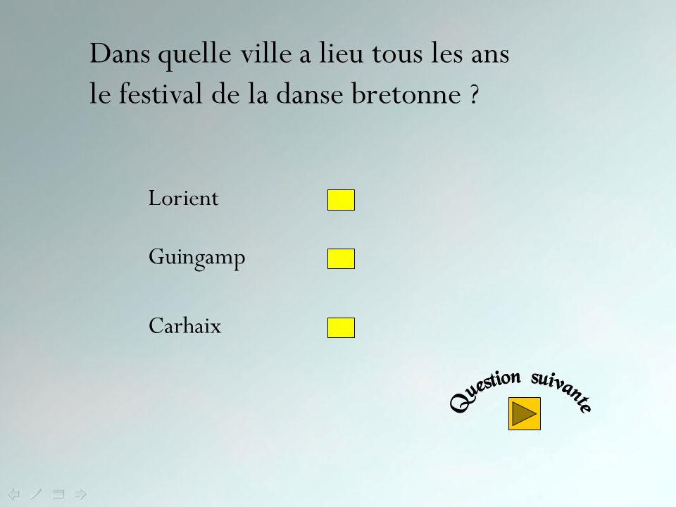 Dans quelle ville a lieu tous les ans le festival de la danse bretonne