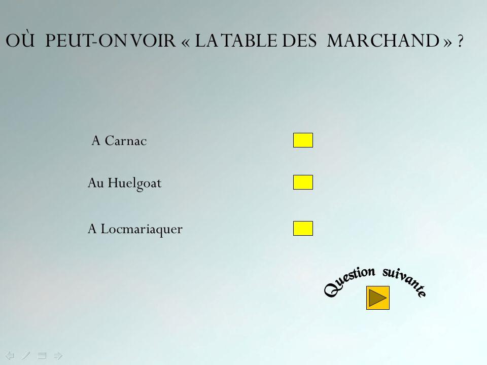 OÙ PEUT-ON VOIR « LA TABLE DES MARCHAND »