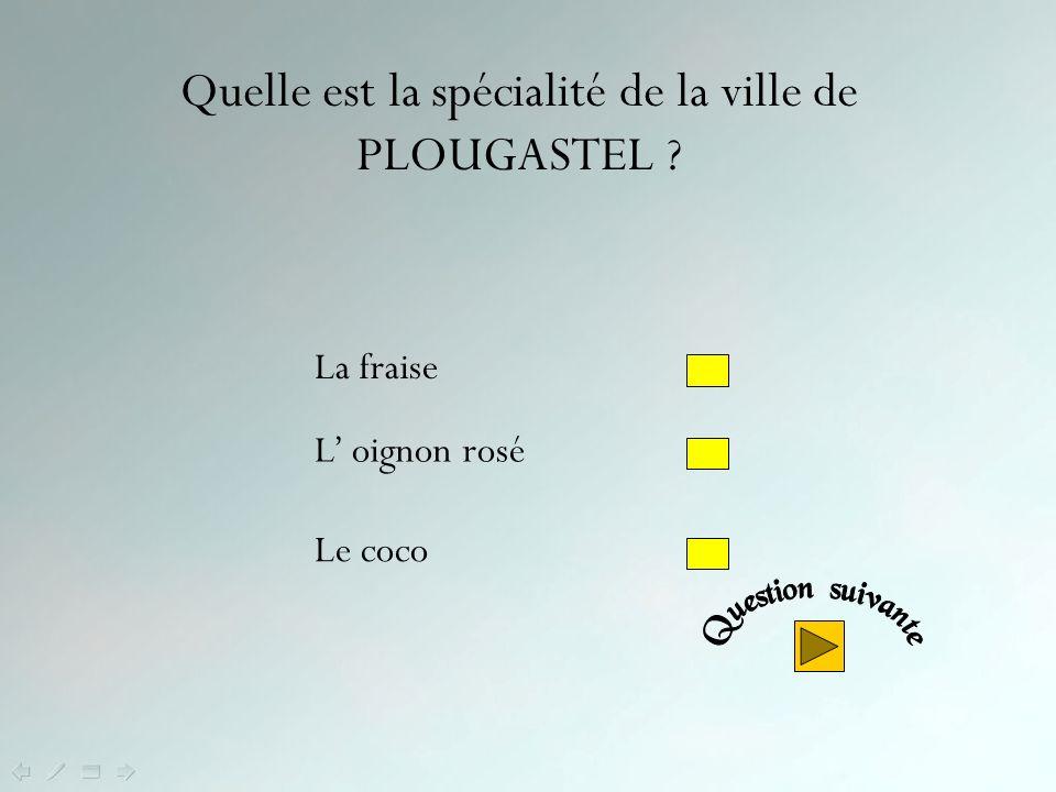 Quelle est la spécialité de la ville de PLOUGASTEL