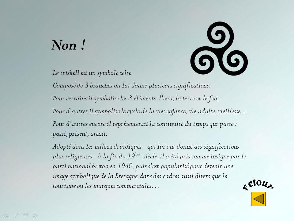 Non ! Le triskell est un symbole celte.
