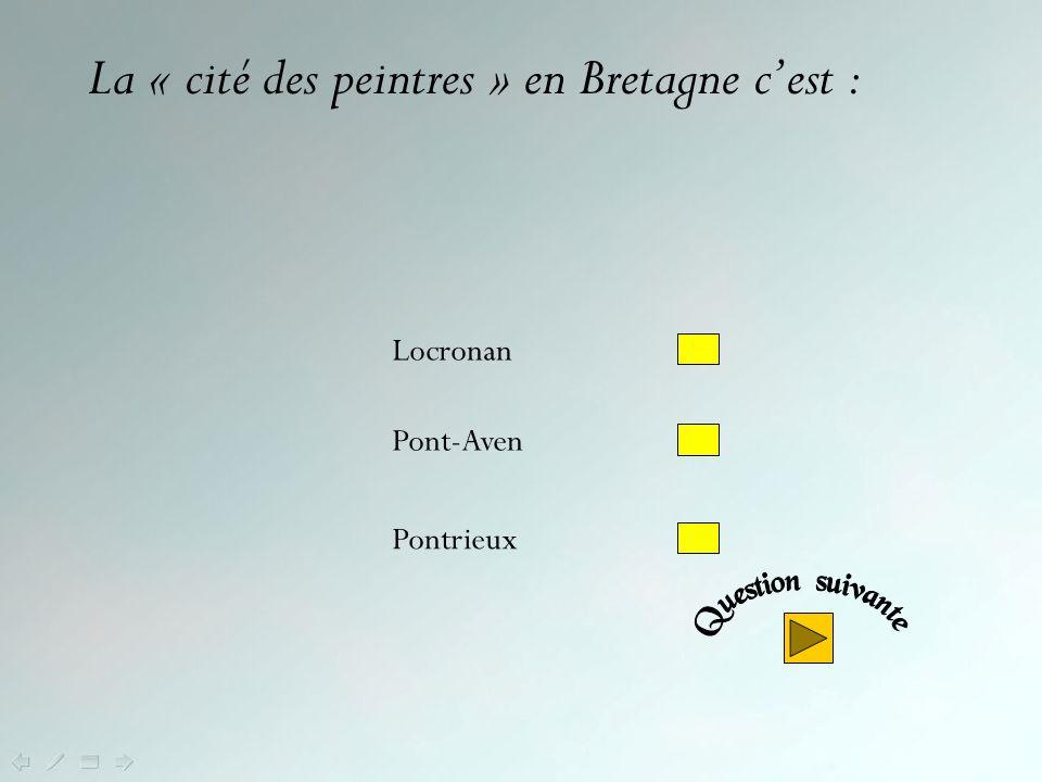 La « cité des peintres » en Bretagne c'est :