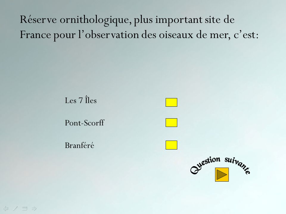 Réserve ornithologique, plus important site de France pour l'observation des oiseaux de mer, c'est: