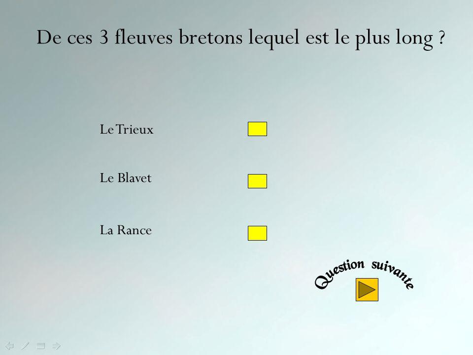 De ces 3 fleuves bretons lequel est le plus long