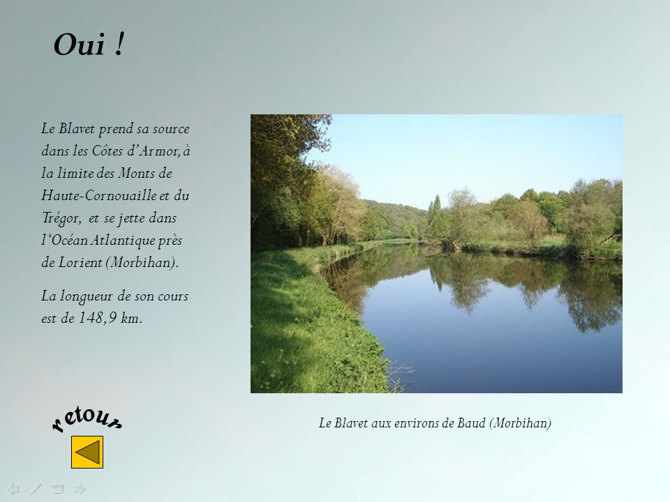 Le Blavet aux environs de Baud (Morbihan)