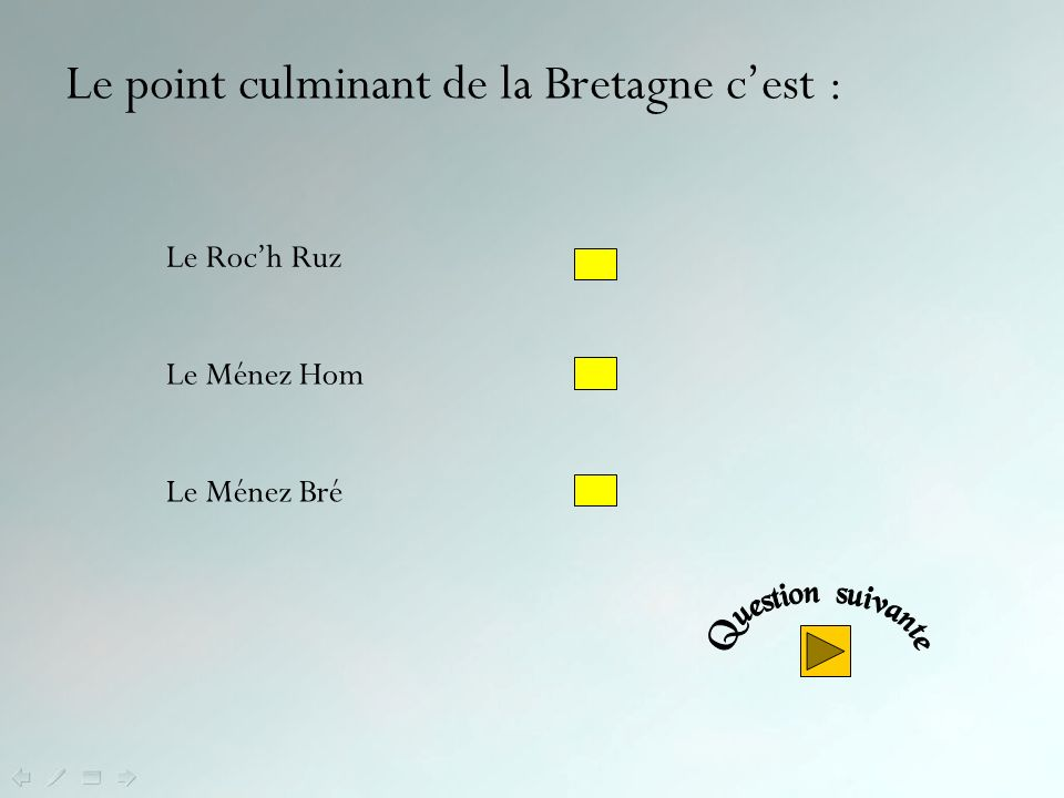 Le point culminant de la Bretagne c'est :