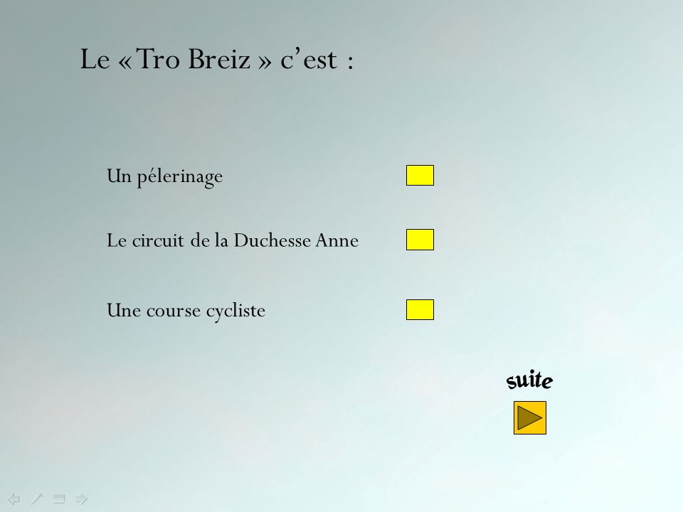 Le « Tro Breiz » c'est : Un pélerinage Le circuit de la Duchesse Anne