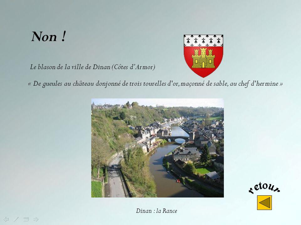 Non ! Le blason de la ville de Dinan (Côtes d'Armor)
